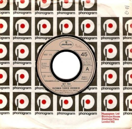 BACHMAN-TURNER OVERDRIVE Hey You Vinyl Record 7 Inch Mercury 1975